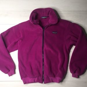 Patagonia Women Fleece Full zip Thick Vtg jacket